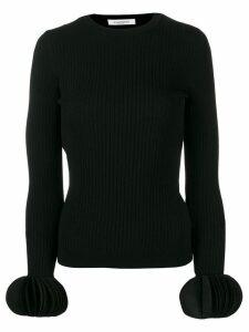 Valentino embroidered stretch sweater - Black