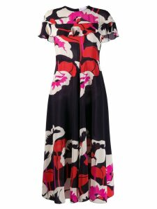 Red Valentino floral midi dress - Black