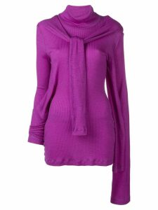 Christopher Kane octopus ribbed top - Purple