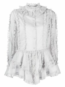 See By Chloé lace trimmed shirt - Blue