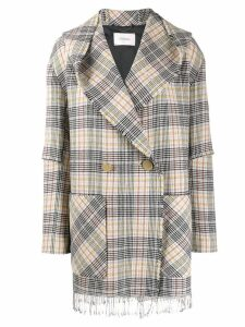 Dorothee Schumacher pastel check double-breasted jacket - Neutrals