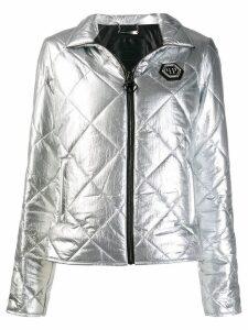 Philipp Plein Cyrstal puffer jacket - Grey