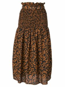 Nicholas leopard print skirt - Brown