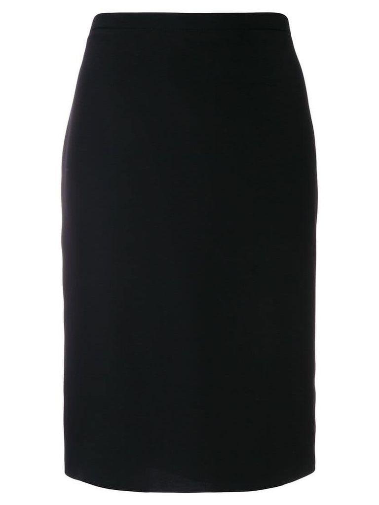 Armani Collezioni slim-fit midi skirt - Black