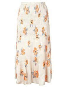 Nicholas floral midi skirt - Orange