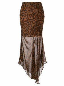 Nicholas draped asymmetric skirt - Brown