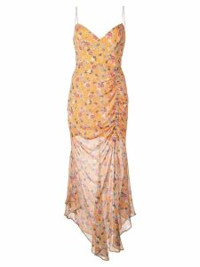 Nicholas floral print dress - Orange