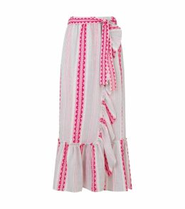 Woven Ruffle Trim Skirt