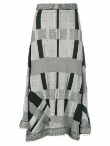 Proenza Schouler Patchwork Plaid Skirt - Grey