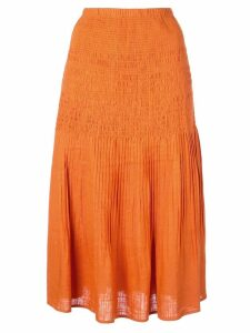 Nicholas textured a-line skirt - ORANGE