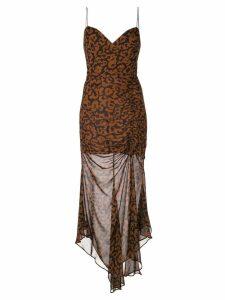 Nicholas leopard print dress - Brown