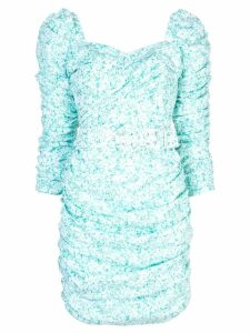 Nicholas floral print fitted dress - Blue