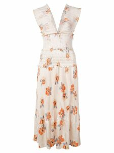 Nicholas floral party dress - Neutrals