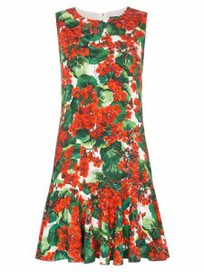 Dolce & Gabbana Cady floral-print dress - Red