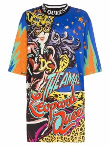 Dolce & Gabbana Leopard Queen-print oversized T-shirt - Hhy03