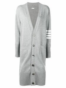 Thom Browne striped sleeve long cardigan - Grey