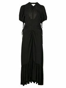 Proenza Schouler Textured Crepe Cinched Dress - Black