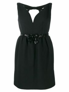 Miu Miu sequin-embellished mini dress - Black