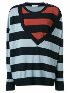 Sonia Rykiel bold striped jumper - Blue