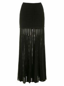 Andrea Bogosian long knitted skirt - Black