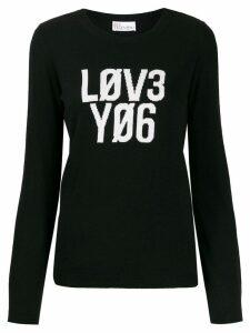 Red Valentino 'Lov3 Yo6' jumper - Black