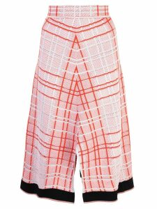 Proenza Schouler Drapey Plaid Skirt - Red