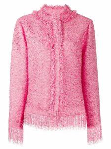 MSGM tweed fringe jacket - Pink