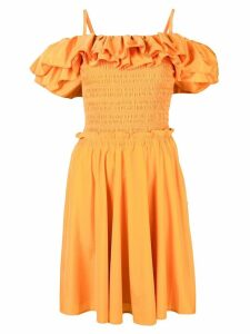 Nicholas frill layered dress - Orange