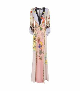 Floral Flared Sleeve Gown