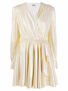 MSGM metallic short dress - Gold