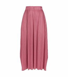 Plissé Midi Skirt
