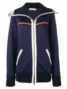 Marni zipped active jacket - Blue