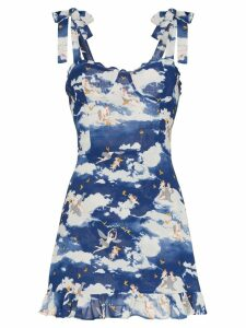 Reformation Christine cloud print mini dress - Multicoloured