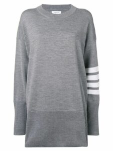 Thom Browne 4-Bar Oversized Pullover - Grey