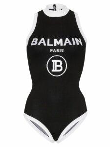 Balmain contrast logo knit bodysuit - Black