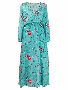 Zadig & Voltaire Rikko Daisy robe dress - Blue