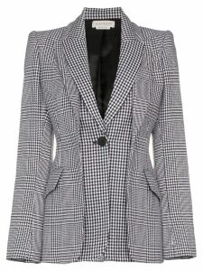 Alexander McQueen houndstooth check blazer - 1080 MULTICOLOURED