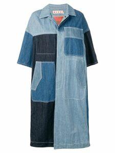 Marni long shirt jacket - Blue