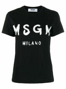 MSGM printed logo T-shirt - Black