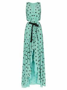 SILVIA TCHERASSI Berna spotted cut-out gown - Blue