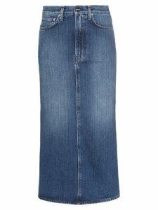 Toteme Bitte denim pencil skirt - Blue