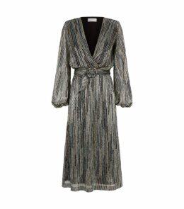 Metallic Stripe Bellagio Dress