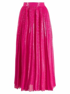 MSGM sequin pleated skirt - Pink