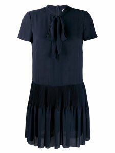 Red Valentino pleated mini dress - Blue
