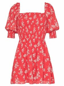 Reformation Elee mini floral print dress - Red