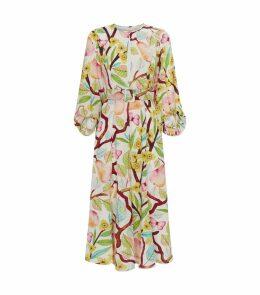 Silk Garden Midi Dress