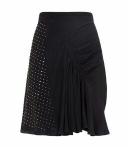 Diamanté-Studded Mini Skirt
