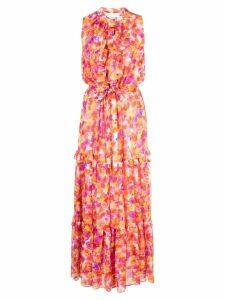 Misa Los Angeles floral ruffle detail dress - Multicolour
