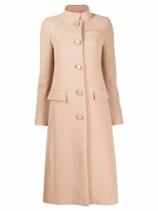 Givenchy classic button-up coat - Neutrals
