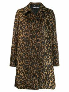 Miu Miu leopard print coat - Neutrals